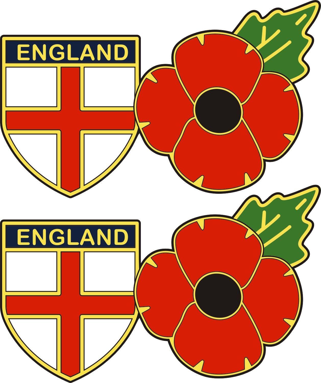 Shield flag and poppy sticker england shield flag and poppy sticker buycottarizona